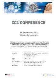 28 September 2012 hosted by Grundfos - PlastNet