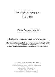 1 Othering and Agency - Sociologi - Aalborg Universitet