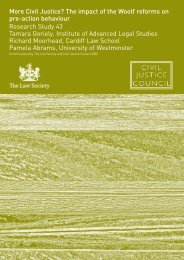 Civil Justice? The impact of the Woolf reforms on pre-action behaviour