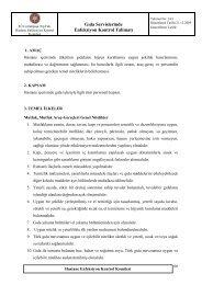 Gıda Servislerinde Enfeksiyon Kontrol Talimatı - İ.Ü. Cerrahpaşa Tıp ...