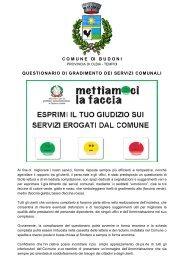 QUESTIONARIO DI CUSTOMER SATISFACTION - Comune di Budoni