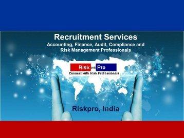 Recruitment Services - Riskpro