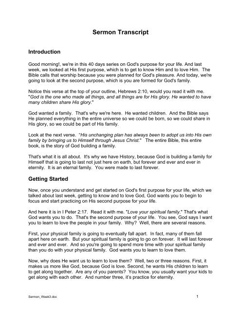 template for handout outline - Small Group Bible Studies - Waiuku