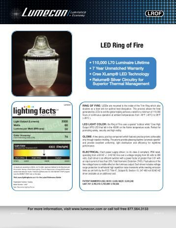 LUMECON LED Acorn Fixture