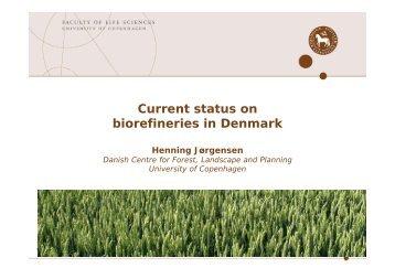 Country status Denmark IE42 150307 - Biorefinery