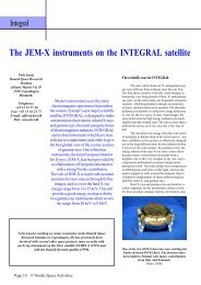 The JEM-X instruments on the INTEGRAL satellite - NordicSpace
