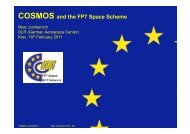 COSMOS and the FP7 Space Scheme