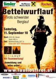 Ergebnisliste - Lauf Los Tirol