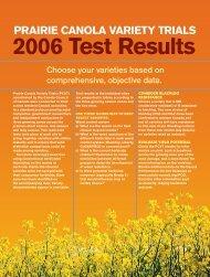 2006 Test Results - SaskCanola