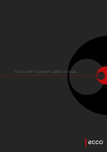 ecco Unity concept Users manUal - Emu