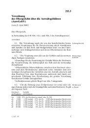 215.3 Verordnung des Obergerichts über die Anwaltsgebühren ...