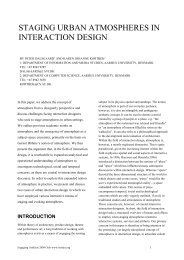 staging urban atmospheres in interaction design - Department of ...