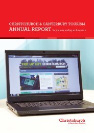 CCT Annual Report 2012 - Christchurch and Canterbury