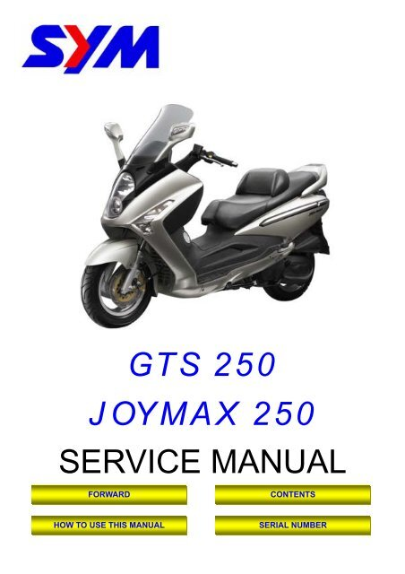 Sym Gts Servicemanual Scootergrisen