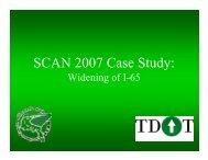 SCAN 2007 Case Study: