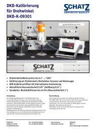 DKD-Kalibrierung für Drehwinkel DKD-K-09301 - Schatz AG