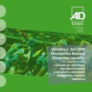 Vyhláška o dopingovej kontrole (pdf) - Antidoping