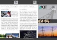 Brochure Energy Engineering - Carl Benz School of Engineering - KIT