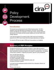 Policy Development Process - CIRA