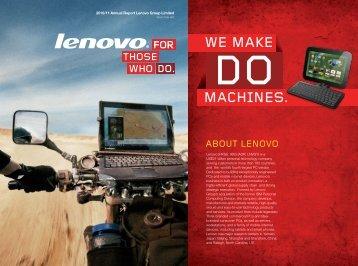 2010/11 Annual Report - Lenovo