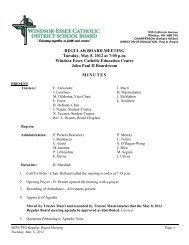 REGULAR BOARD MEETING Tuesday, May 8, 2012 at 7:00 p.m. ...