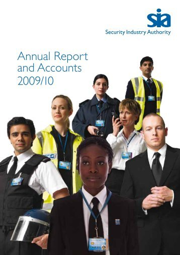 SIA Annual Report and Accounts 2009/10 - Security Industry Authority