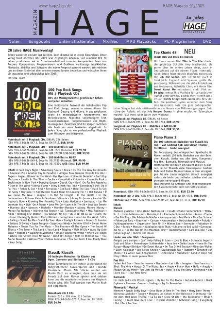 Klavier Noten PIANO PIANO Band 2 mit 2 CD/'s Ausgabe Hage EH 4733 LEICHT