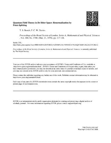 Quantum Field Theory in De Sitter Space: Renormalization by Point ...