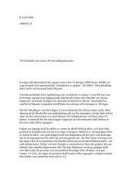 R 6185/2000 2000-05-15 Till Statsrådet och chefen för ...