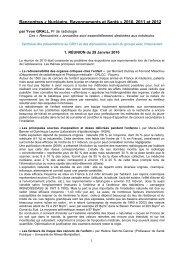 Rencontres « Nucléaire, Rayonnements et Santé » 2010 ... - SFEN