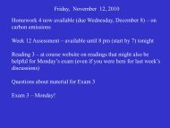 Friday, November 12, 2010 Homework 4 now available (due ...