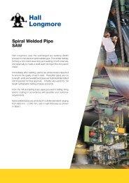 spiral welded pipe brochure - Hall Longmore