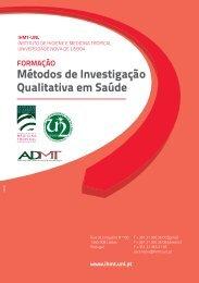 Métodos de Investigação Qualitativa em Saúde FORMAÇÃO