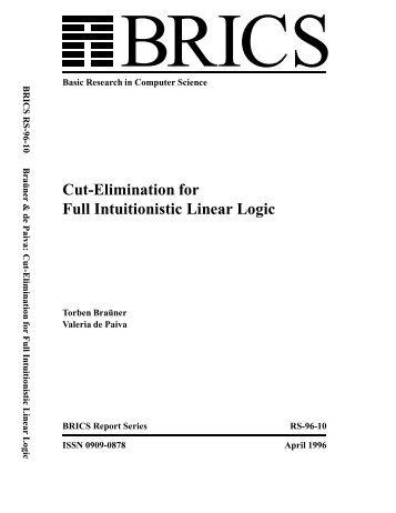 Cut-Elimination for Full Intuitionistic Linear Logic - brics