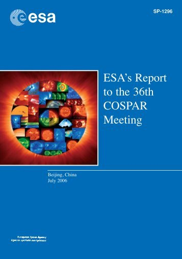 ESA's Report to the 36th COSPAR Meeting