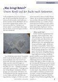 """""""Was bringt Beten?"""" Unsere Konfis auf der Suche nach Antworten - Page 5"""