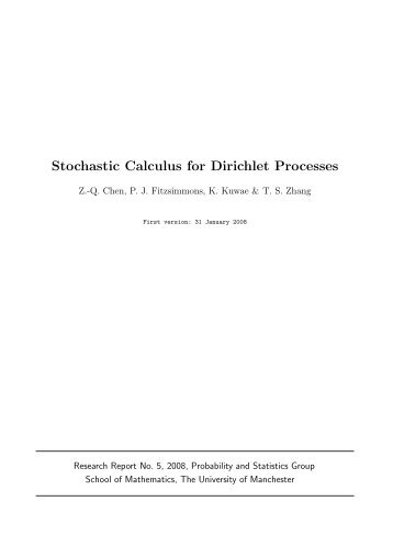 Stochastic Calculus for Dirichlet Processes - MIMS - The University ...
