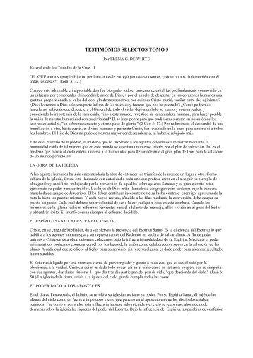 TESTIMONIOS SELECTOS TOMO 5 - Loud-cry.com