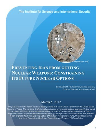 Preventing Iran From Getting Nuclear Weapons - Institute for ...
