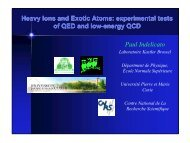 Heavy Ions and Exotic Atoms: experimental tests of QED and low ...
