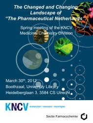 Crossing decades and borders in medicinal chemistry Joint ... - KNCV