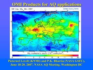 PI Perspective on OMI Tropospheric Products for Air Quality - NASA