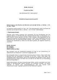 Seite 1 von 4 PEARL GOLD AG Frankfurt am Main ISIN ...