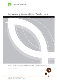 Innovation Systems and Rural Development - Københavns Universitet