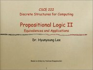 Propositional Logic II - TAMU Computer Science Faculty Pages