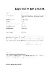 Registration test decision - National Native Title Tribunal