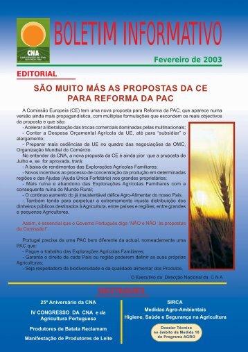 Boletim Informativo Fevereiro de 2003 - CNA