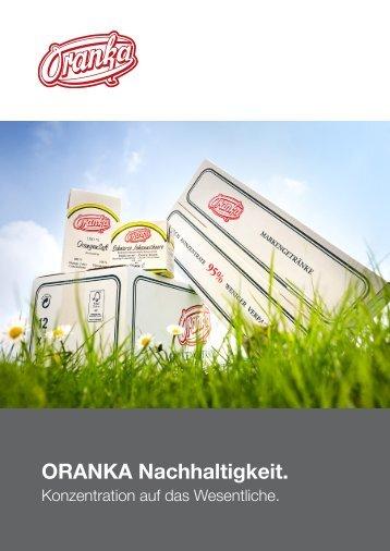 ORANKA. Nachhaltigkeit. - Wolfgang Jobmann GmbH
