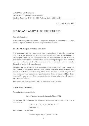 DESIGN AND ANALYSIS OF EXPERIMENTS - Department of ...