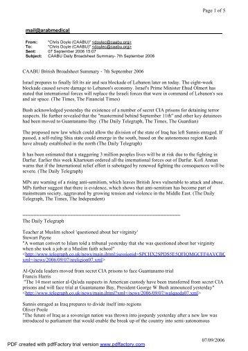 mail@arabmedical Page 1 of 5 07/09/2006 CAABU British ...